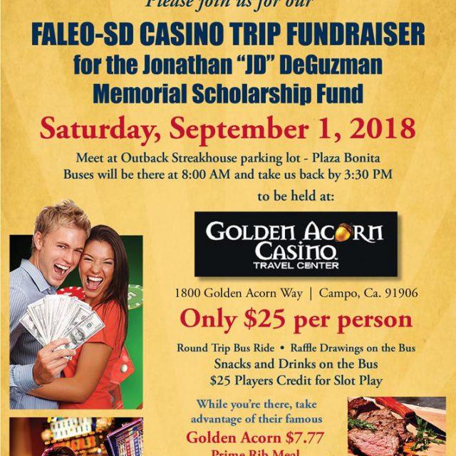 Golden Acorn Casino trip – Sat, Sept. 1st